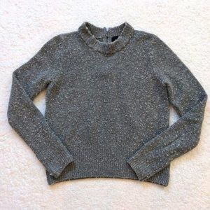 Cynthia Rowley Wool Sweater Fuzzy Mock Neck Medium